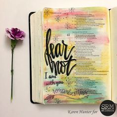 KarenScraps: Fear Not Bible Journaling Page