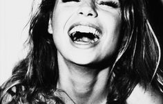 girl laughing - Black and White - Photography - Portrait