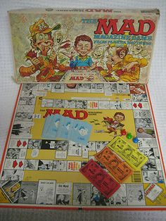 Mad Magazine Board Game - My favorite game! Fun Games, Games For Kids, Games To Play, Retro Toys, Vintage Toys, Childhood Toys, Childhood Memories, Old Board Games, Bored Games