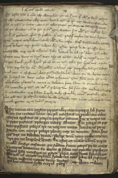Interesting to see the 2 different handwriting on this. Title 	Theological miscellany; the Prophecies of Merlin Origin 	England Date 	Last quarter of the 13th century or 1st quarter of the 14th century Language Latin and French (Anglo-Norman)	 Script 	Gothic cursive