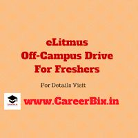 eLitmus Off-Campus Drive For Freshers