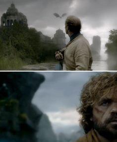 Jorah • Tyrion • Drogon