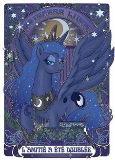 """My Little Pony - Friendship is Magic """"Art Nouveau"""" Princess Luna!"""