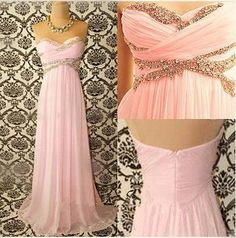 The product Light Pink Sweetheart Prom Dresses Bridesmaid Dresses Long Dresses  CC912 is sold by Perfect Dresses   CHIQ CLUB in our Tictail store.  Tictail lets you create a beautiful online store for free - tictail.com