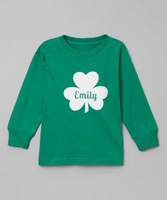 Look at this #zulilyfind! Green Clover Personalized Tee - Toddler & Kids by So Girly & Twirly #zulilyfinds
