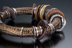 Carved Polymer Bracelet by Celie Fago Photo by Robert Diamante