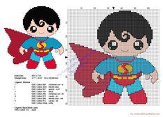 Baby Superman Superheroes free cross stitch patterns - free cross stitch patterns simple unique alphabets baby