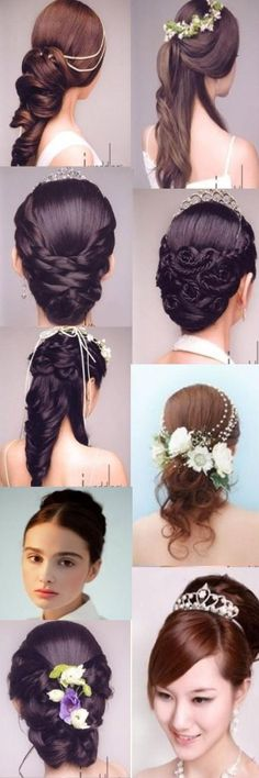 #Wedding Hair# I love the one with the rope-y look