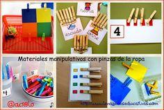 Materiales manipulativos con pinzas de la ropa http://www.imageneseducativas.com/materiales-manipulativos-con-pinzas-de-la-ropa/
