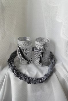 Deko-Objekte - Windlicht - ein Designerstück von Anita-Geschenke bei DaWanda Napkin Rings, Etsy, Home Decor, Christmas Jewelry, Objects, Handarbeit, Creative, Deco, Gifts