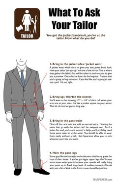 What to Ask Your Tailor @dappered | Dalys1895.com