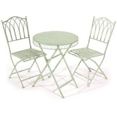 Buy Versailles Garden Bistro Set - Pistachio at Argos.co.uk - Your Online Shop for Garden table and chair sets.
