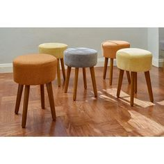 Porthos Home Wallace Linen Upholstered Stool | Overstock.com Shopping - The Best Deals on Ottomans