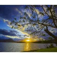 It's hard to be disappointed with a sunset at Lake Moogerah by Glen Rock, Disappointed, Somerset, Brisbane, Backdrops, Sunset, World, Outdoor, Places To Visit