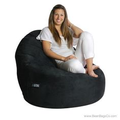 Exceptionnel 1 Seater Sitsational Lounger   Soft Suede Black | Www.beanbagsco.com