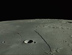 The Straight Wall, or Rupes Recta, cuts across the face of the moon and is visible in small telescopes this week. Photograph courtesy JAXA/S...