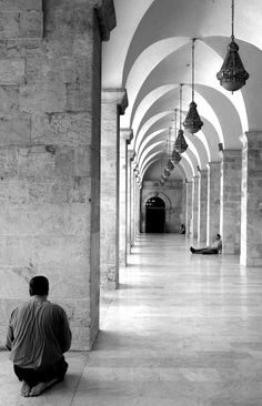 Aleppo, Halab - .Syria-.   ...taken at the colonnaded arcade of the umayyad mosque...