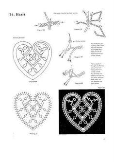 100 New Bbbin Lace Patterns Hairpin Lace Crochet, Lace Tape, Bruges Lace, Bobbin Lacemaking, Bobbin Lace Patterns, Lace Heart, Point Lace, Lace Jewelry, Crochet Diagram