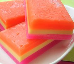 Soap - Hawaiian Girl Soap - Salt Bar Soap - Neon - Scented Soap - Natural Soap - Pineapple and Orchids