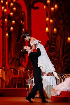 The Australian Ballet's Robyn Hendricks and Jarryd Madden in Ronald Hynd's The Merry Widow. Photography Jeff Busby