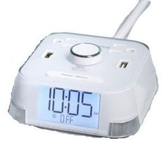 CubieTime Alarm Clock Charger w 2 USB Ports and 2 Outlets Charging Station White *** You can find more details by visiting the image link. #Clocks