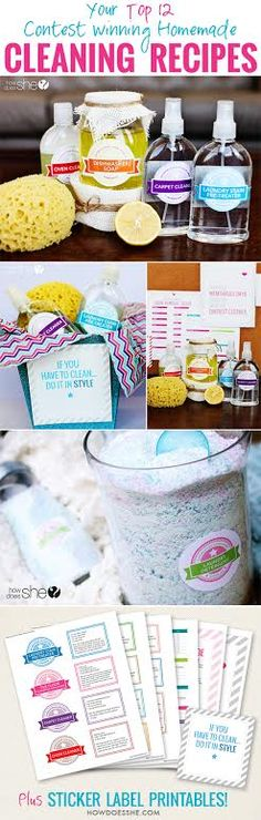 Our best reader-submitted Homemade, natural cleaning products! Slash your cleaning product bill in half! PLUS gorgeous printables!