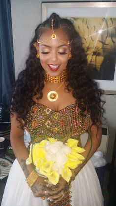 Melsi. Eritrean hairstyle, Eritrean jewelry, And Eritrean clothing