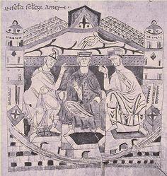 Louis I de France, dit le Pieux ou le Débonnaire(778 à Chasseneuil du Poitou, Vienne - 20/06/840 à Ingelheim-am-Rhein, Allemagne). Fils de Charlemagne et Hildegarde de Vintzgau. Roi d'Aquitaine de 781 à 814, Empereur d'Occident de 814 à 840 et Roi des Francs. Son règne est marqué par de nombreuses menaces sur l'unité de l'Empire Carolingien légué par son père. Ses fils se révoltent contre lui et il doit faire face aux raids des Vikings.