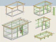 Building instructions tomato house – Famous Last Words Garden Care, Garden Beds, Diy Garden, The Neighbor, Square Foot Gardening, Vegetable Garden Design, Garden Images, Greenhouse Gardening, Outdoor Sheds