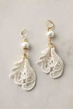 anthropologie lace earrings