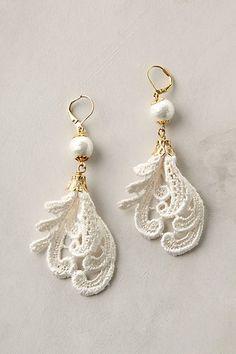 DIY Lace Earrings |