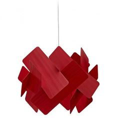 The Escape Large Pendant Lamp by LZF is an elegant pendant with a nifty structure that features interlocking strips of wood veneer arranged in a way that is reminiscent of falling dominoes. Veneer Panels, Light Effect, Led, Wood Veneer, Pendant Lamp, Modern Interior, Natural Wood, Red And Blue, Lamps