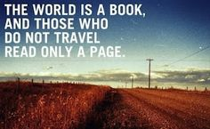 The world is a book.