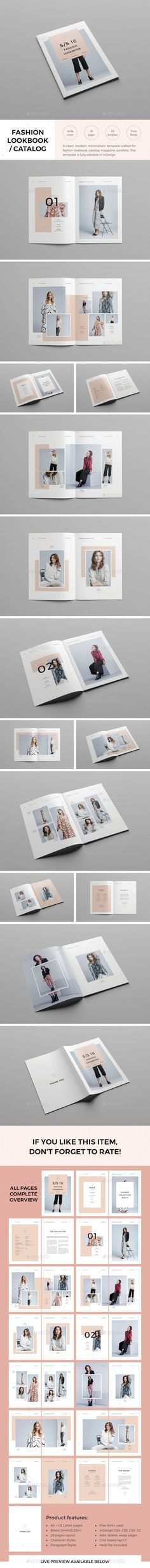 Lookbook Template InDesign INDD. Download here: