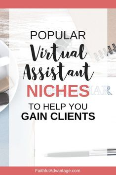 Let's look at 17 in-demand virtual assistant niches that'll help you gain your clients suited to your expertise Business Planning, Business Tips, Online Business, How To Make Money, How To Become, Virtual Assistant Services, Virtual Administrative Assistant, Home Based Business, Work From Home Jobs