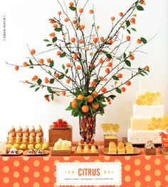 Citrus party ideas/inspiration ~ Party Frosting