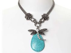 Dragonfly Statement Necklace. Good design inspiration for jewelry making.