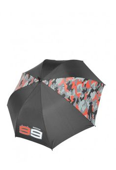 Jorge Lorenzo umbrella to protect you from the rain. Large-sized umbrella inspired by the new camo design. The printed race number 99 and Por Fuera logo further embellish this accessory.