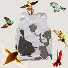 SHIRIN - T-Shirt Débardeur Duck  Provenance : New-York, USA Coton Bio, Baby Style, York, Usa, Tank Tops, T Shirt, Women, Fashion, Bebe