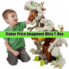 Fisher Price Imaginext Ultra T-Rex ~ Gift idea for boys age Dinosaur Toys For Boys, Kids Toys, Home Design Diy, Top Toys, Kid Spaces, Age 3, Fisher Price, T Rex, Cool Kids