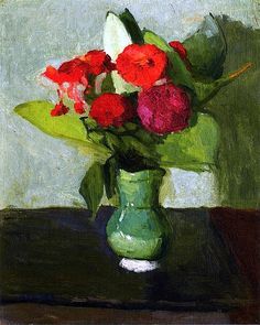 Bouquet of Flowers in a Green Vase / Albert Marquet