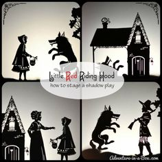 Little red riding hood DIY shadow play
