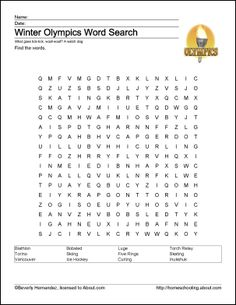 Badminton Wordsearch, Vocabulary, Crossword and Winter Olympics 2014, Summer Olympics, Olympic Idea, Olympic Games, Badminton, Summer School, School Fun, Going For Gold, Winter Games