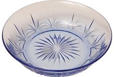 Blue Depression Glass Bowl on OneKingsLane.comjonathanbeckerman.com