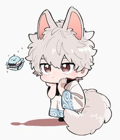 Thicc Anime, Anime Chibi, Gintama Wallpaper, Kawaii Chibi, All Things Cute, Manga Illustration, Manga Drawing, Cartoon Characters, Poses
