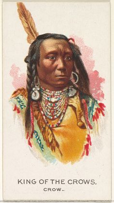 Issued by Allen & Ginter | King of the Crows, Crow, from the American Indian Chiefs series (N2) for Allen & Ginter Cigarettes Brands | The Metropolitan Museum of Art