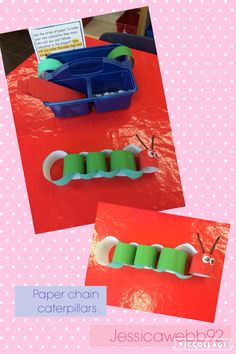 Paper chain caterpillars. EYFS