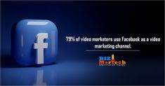79% of video marketers use Facebook as a video marketing channel. #facebook #video #marketing #b2b #b2bbusiness #channel Marketing Channel, Facebook Video, Activities, Business, Videos, Store, Business Illustration