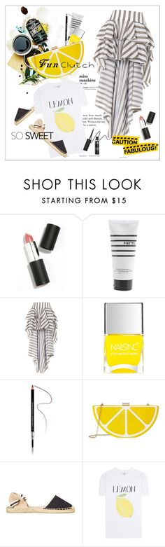 """Grab and Go: Cute Clutches"" by amaryllis ❤ liked on Polyvore featuring Sigma Beauty, Pirette, Caroline Constas, Nails Inc., Givenchy, Jessica McClintock, Soludos and Ganni"
