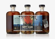 UK's brand design agency B&B Studio has created the identity and packaging for a new golden rum called The Duppy Share for The Wesbourne Drinks Company. B&B Studio captures the dark nature of the duppies without losing the positivity and spirit of the Caribbean rum category.
